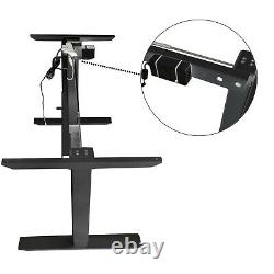 1 x Adjustable Sit-Stand Desk Legs Frame Dual Motor Memory Touch Control Black