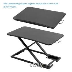 16 Adjustable Standing Desk Monitor Riser Tabletop Sit to Stand Table