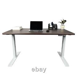 2 Colors Electric Height Adjustable Computer Desk 47''X23.5'' Sit-Stand Desks US
