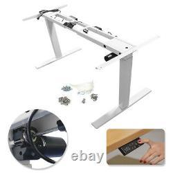 220V Electric Standing Desk Height Adjustable Sit Stand Workstation Frame Only