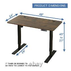 24x48Electric Standing Desk Height Adjustable Sit Stand Lifting Tab Desk Office
