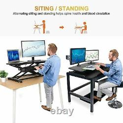 31 Adjustable Standing Desk Converter Monitor Riser Sit Stand Workstation, US