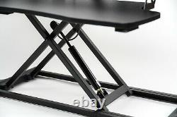 32 Dual Monitor Adjustable Height Desk Riser Tabletop Sit to Stand Workstation