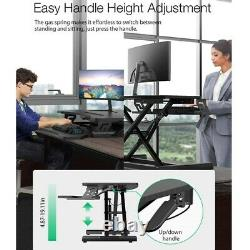 32'' Tall Adjustable Stand Lifting Desk Monitor Tabletop Sit Stand Workstation