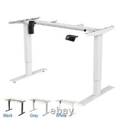 46 Electric Stand Up Desk Frame Home Office Height Adjustable Sit Standing Desk
