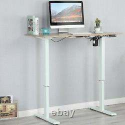 47.24 Adjustable Height Electric Standing Desk Sit Lifting Table With 2Hook