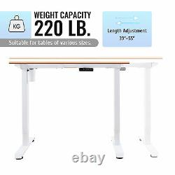 47 Adjustable Height Computer Desk for Sitting and Standing 220lb Cap