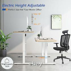 47 Electric Standing Desk Height Adjustable Sit Stand Up Desks for Home Office