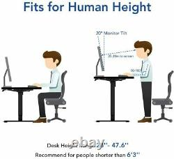 47 x 24 Electric Sit Stand Desk with Table Top Height Adjustable Workstation