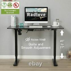 48Adjustable Height Electric Standing Desk Sit Stand Table Computer Workstation