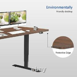 55 Electric Sit Stand Up Desk Adjustable Height Standing Desk For Home Office