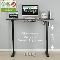 55 Height Adjustable Electric Standing Desk Sit Table Computer PC Workstation