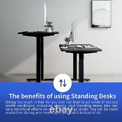 55 Stand Up Desk Electric Adjustable Height Sit Standing Desk for Home Office