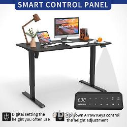 55 Standing Desk Electric Adjustable Height Sit Stand Up Desk With USB Chager