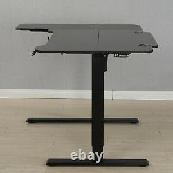 59L type Electric Standing Desk Height Adjustable Sit Lifting Table Basket+Hook
