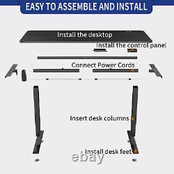 70 Electric Standing Desk Adjustable Sit Stand Table Computer PC Workstation