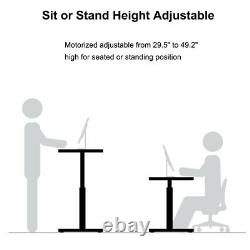 90W Electric Standing Desk Height Adjustable Sit Stand Workstation Frame Only