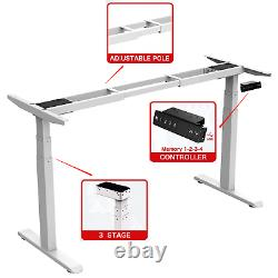 AIMEZO Electric Standing Desk Frame Height Adjustable Sit to Stand Desk White