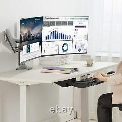 AVLT-Power Full Motion Under Desk Keyboard Tray Sit Stand 13.4 Height Adjust