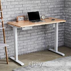 Adjustable Height Computer Desk Frame for Sitting & Standing 220lb Cap