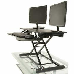 Adjustable Height Desk Standing Sit / Stand Table Workstation Black Computer