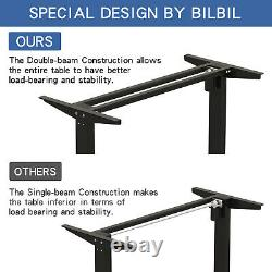 Adjustable Height Electric Standing Desk Sit Stand Table Computer PC Workstation