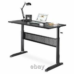 Adjustable Height Standing Desk Sit Stand Up Workstation with Crank Handle