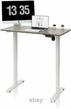 Adjustable Height Standing Electric Desk Sit Stand Up Computer Home Office 47x24