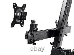 Adjustable Sit Stand Dual Monitor 13 to 26 Desk Mount & Keyboard Workstation