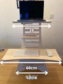 Adjustable Standing Desk Ergonomic & Flexible Sit Standing Laptop Desk