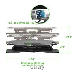 AdvanceUP 2-tier 37.4 Standing Desk Converter Adjustable Sit-Stand Dual Monitor