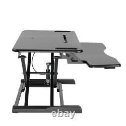 AdvanceUp 2-tier 37.4 Standing Desk Converter Adjustable Sit-Stand Workstation