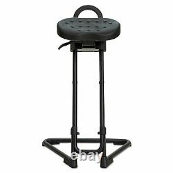 Alera Sit/Stand Adjustable Stool, BLK/BLK, BLK Base SS600