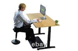 Bamboo Electric Height Adjustable Standing Desk ergonomic sit stand up office