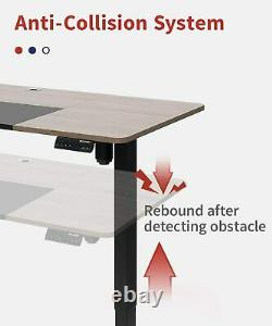 CLATINA Adjustable Height Standing Desk with Electric for Sit Stand Up Computer