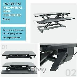 Computer Standing Desk Converter, Adjustable Sit Stand Workstation PA-TW-7-M