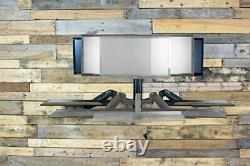 Computer Wall Mount Sit Stand Height Adjustable Monitor Keyboard Workstation