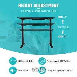 Costway 55x28 Electric Standing Desk Adjustable Sit to Stand with Controller