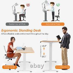 Costway Electric 55x28 Standing Desk Sit Stand Height Adjustable Splice Board