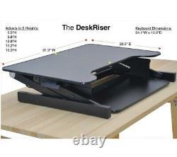DeskRiser Adjustable Standing Desk Stand Up Desk Sit Stand Desk withTray 32 Wide