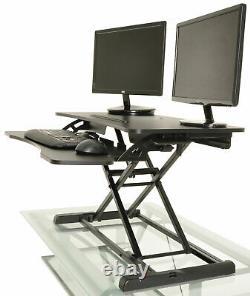 Desktop Tabletop Standing Desk Adjustable Height Sit to Stand Workstation