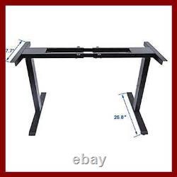 Dual Motor Electric Stand Up Desk Frame Height Adjustable Sit Standing Workstati