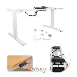 Dual Motor Height Adjustable Electric Sit & Stand Desk Frame 220lb Load