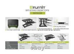 EFurnit Series 151 Standing Desk Riser, Height Adjustable Sit Stand Workstation
