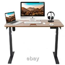 Electric Adjustable Height Standing Desk Sit Stand Table Home Office Workstation