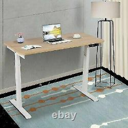 Electric Adjustable Height Standing Desk Sit Stand Table Home Study Workstation