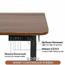 Electric Adjustable Height Standing Desk Sit Stand Table Office Home Workstation