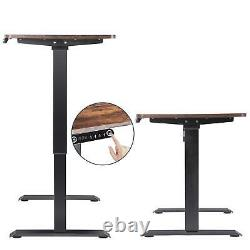 Electric Adjustable Standing Desk, Sit Stand Up Desk with LED Memory Settings