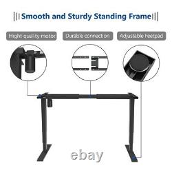 Electric Desk Frame Adjustable Height Sit Stand Desk with USB Charge Controller