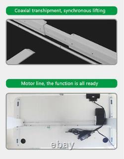 Electric Desk Frame Height Adjust Motorized Sit Stand Desk Legs Silver-Grey S7